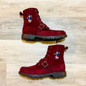 Polo Ralph Lauren Bear Ranger HI II Burgundy Boots